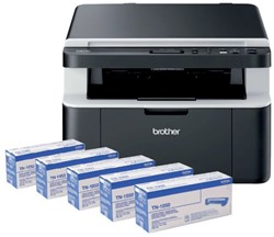 Multfunctional Brother DCP-1612W + 4 toners TN-1050