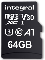 Geheugenkaart Integral Micro SDHC V30 64GB