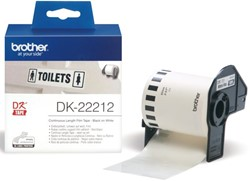 Etiket Brother DK-22212 62mm 15-meter witte film