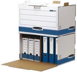 Archiefdoos Bankers Box System ordnerarchief wit blauw
