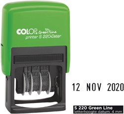 Datumstempel Colop S220 green line 4mm