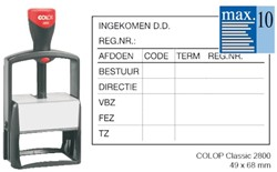 Tekststempel Colop 2800 +bon 10regels 68x49mm