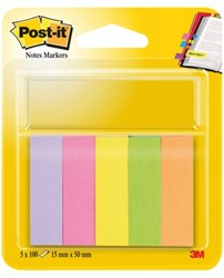 Indextabs 3M Post-it 670/5 papier ultra 5 kleuren