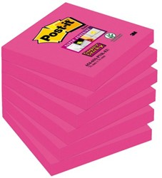 Memoblok 3M Post-it 654-SSFA Super Sticky 76x76mm Fuchsia