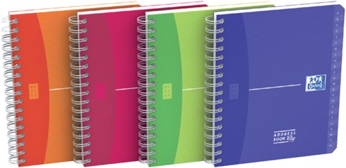 Adresboek Oxford MyColours A6 80vel gelinieerd assorti-3