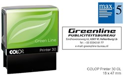 Tekststempel Colop 30 green line+bon 5regels 47x18mm