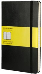 Notitieboek Moleskine large 130x210mm ruit zwart