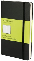 Notitieboek Moleskine pocket 90x140mm blanco zwart
