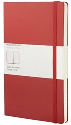 Notitieboek Moleskine large 130x210mm lijn rood