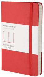 Notitieboek Moleskine pocket 90x140mm lijn rood