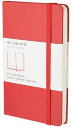 Notitieboek Moleskine large 130x210mm blanco rood