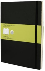 Notitieboek Moleskine XL 190x250mm blanco zwart