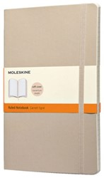 Notitieboek Moleskine large 130x210mm lijn kaki beige
