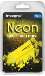 USB-stick 2.0 Integral 16Gb neon geel