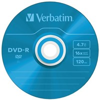 DVD-R Verbatim 4,7GB 16X Colour 5stuks
