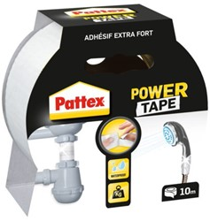Plakband Pattex Power Tape 50mmx10m wit