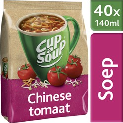 Cup-a-soup tbv dispenser Chinese tomaat zak met 40 porties