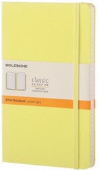 Notitieboek Moleskine large 130x210mm lijn citroengeel