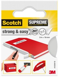 Plakband Scotch Supreme 19mmx3m strong & easy wit