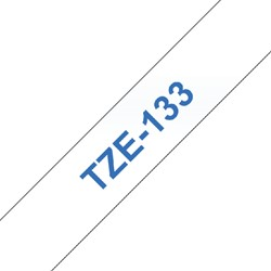 Labeltape Brother P-touch TZE133 12mm blauw op transparant