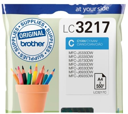 Inktcartridge Brother LC-3217C blauw