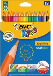 Kleurpotloden Bic Kids Evolution ass blister à 18st