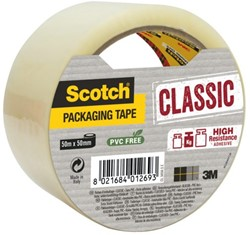Verpakkingstape Scotch Classic 50mmx50m transparant