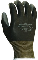 Handschoen Showa B0502 grip nylon zwart large