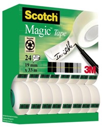 Onzichtbaar plakband Scotch Magic 810 19mmx33m 16+8 gratis