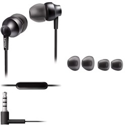 Oortelefoon Philips in ear SE3855G antraciet grijs