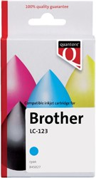 Inkcartridge Quantore Brother LC-123 blauw