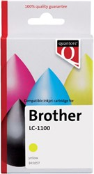 Inkcartridge Quantore Brother LC-1100 geel