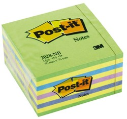 Memoblok 3M Post-it 2028NB kubus 76x76mm neon g/g/b/l 450vel