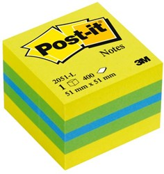 Memoblok 3M Post-it 2051L kubus 51x51mm lemon 400vel